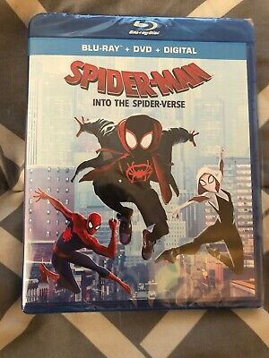 Spider-Man: Into the Spider-Verse (Blu-ray + DVD + Digital) NEW with Slipcover