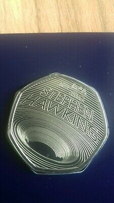 STEPHEN HAWKING 2019 50p Pence Coin BUNC. IN HAND READY FOR DISPATCH. ref2