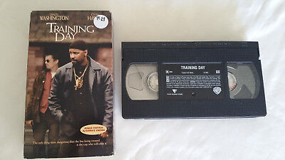 Training Day Movie 2001 Movie VHS VCR Denzel Washington, Ethan Hawke, Eva Mendes