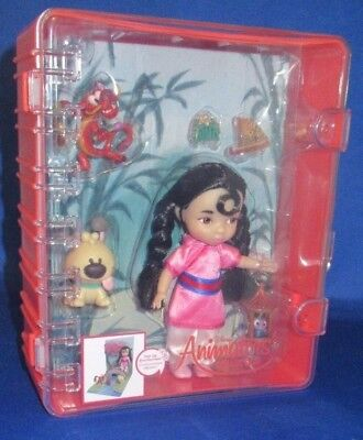 "Authentic Disney Store Animators ""Mulan mini Doll playset"" Brand New FS"