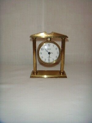 Antique/vintage Solid Brass  Mechanical Alarm Clock, By Swiza