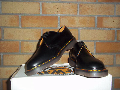 Dr Martens  1484Z Vintage black quilon shoe MADE IN ENGLAND sz 8 UK Ska  Mod