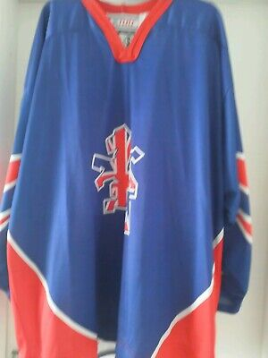 Other Game Used Memorabilia Great Britain Game Worn Iihf Jersey World Juniors Bonner #14 Size L