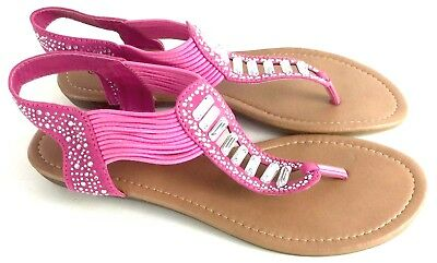 7fadbd260 Pierre Dumas Austin-5 Womens Pink Slip-On Sandals Shoes Rhinestone Accents  10M