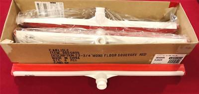 """CARLISLE 3656805 SINGLE RUBBER BLADE SQUEEGEE 24"""" RED / WHITE ~ CASE of 6!"""