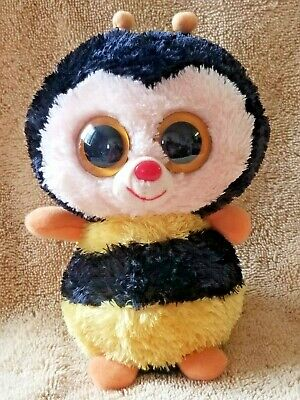 6 Inch Ty Beanie Boos ~ STING the Bee MWMT Solid Eyes Version