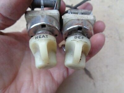 1930's 1940's HEATER / DEFROST SWITCHES Original Vintage Accessory ford chevy