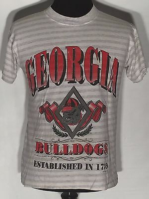 04f6b0fa20a7 VTG 1991 Georgia Bulldogs NCAA SEC College Team Saturdays Hero Medium M T- shirt