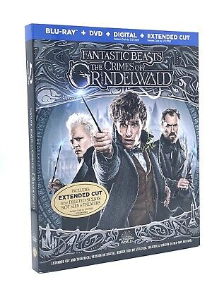 Fantastic Beasts: Crimes of Grindelwald (Blu-ray+DVD+Digital, 2019) w/ Slipcover