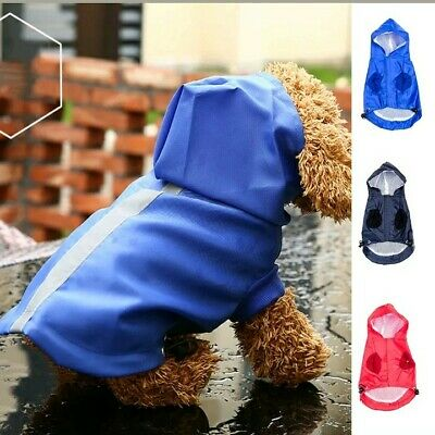 XXS XS SMALL Waterproof Windproof Rain Protective Coat with Hood Puppy Dog Pet