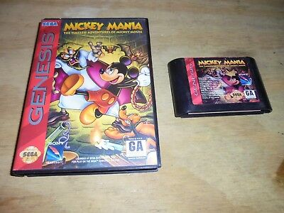MICKEY MANIA: THE Timeless Adventures of Mickey Mouse Sega Genesis -  Case/Game