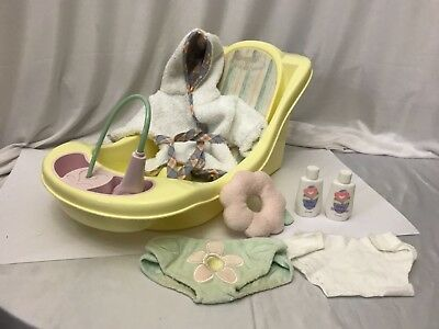 """Bitty Baby 15"""" Doll Clothes 2005 Bath Tub Robe Diapers Set & Much More"""