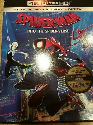 Spider-Man Into the Spider-Verse 4K Ultra HD, Blu-ray & Digital, Brand New