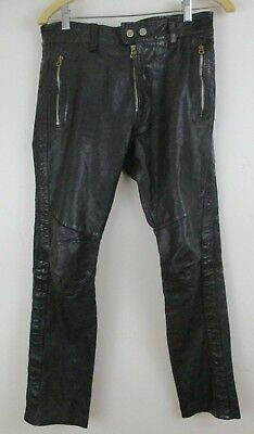 1d930193 DIESEL BLACK LEATHER PANTS WOMEN Size 27 NEW TAGS REMOVED - $55.00 ...