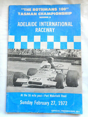 Motor Race Program - 1972 Adealide - Tasman Series
