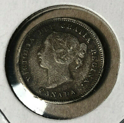 1899 Canada 5 Cents Silver Coin XF/AU Condition