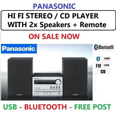 Panasonic CD Stereo System MP3 USB Bluetooth Audio Sound System AUX FM Radio New