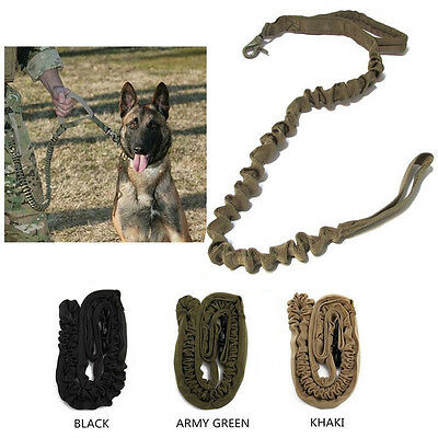 Tactical Dog Training Leash Elastic Bungee Canine Military Army Dog Leads Belt