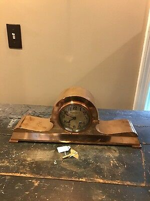 Antique Chelsea Tambour #12 Bronze Mantel Clock