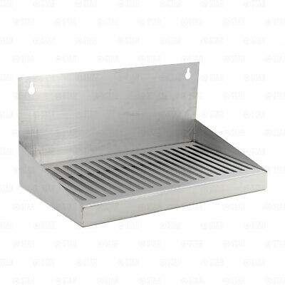 """12"""" Stainless Steel Hanging Drip Tray For Kegerator or Keezer"""