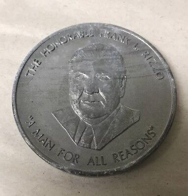 Vtg Philadelphia Mayor Honorable Judge Frank Rizzo Token Coin Campaign Medallion