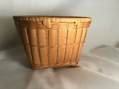 Peoples Republic Of China Chinese Bamboo Basket Woven Flower Bskt Handcraft