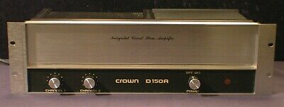 Vintage Crown D-150A Dual Channel Power Amplifier Excellent Estate Find - Rare