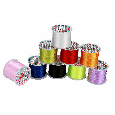 1x45M Elastic Cord Stretch Thread 0.7mm Beading String Kids Craft  ~ 9 Color