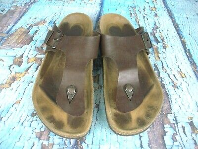 9acc86762ecb Birkenstock Gizeh Brown Leather Thong Sandals Shoes Men s Size  44   11