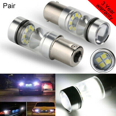 2X 100W 1156 BA15S 382 P21W CREE XBD WHITE LED STOP REVERSE LIGHT CANBUS Bulbs##
