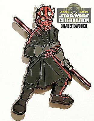 Star Wars Celebration Chicago Darth Maul Phantom Menace Trading Pin IN HAND