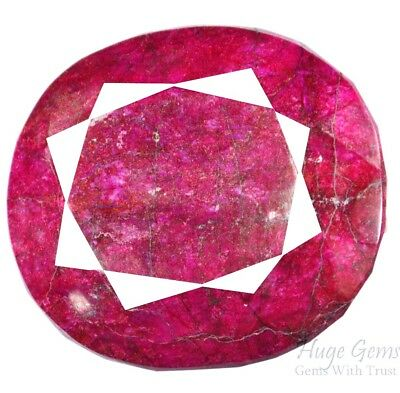 Natural 5807 Ct EGL Certified Real Corundum Red Ruby Loose Gemstone Buy It Now