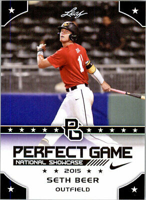SETH BEER 2015 Leaf Perfect Game NIKE All-American SHOWCASE Rookie