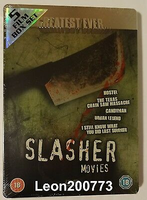 GREATEST EVER SLASHER MOVIES Steelbook Embossed (UK 5x DVD) NEW & SEALED