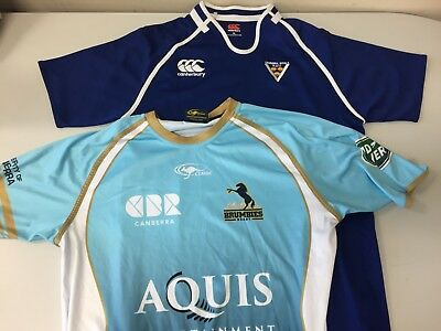 XL Canberra Royals #7 rugby union jersey + Brumbies training shirt