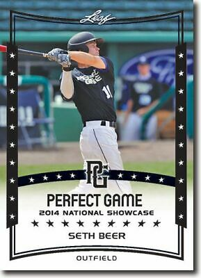 SETH BEER 2014 Leaf Perfect Game All-American SHOWCASE Rookie