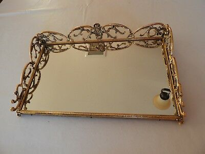 Mirrored Plateau With Topaz Stones Decorative Arts Antiques