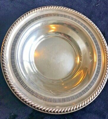 Sterling Silver Reticulated Bowl by Rogers