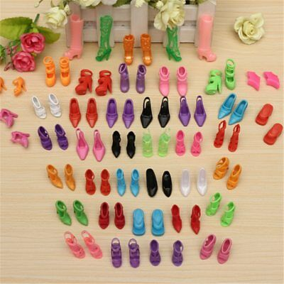 40 Pairs 80pcs Shoes for Barbie Doll Mix Kids Boots High Heel Assorted Styles