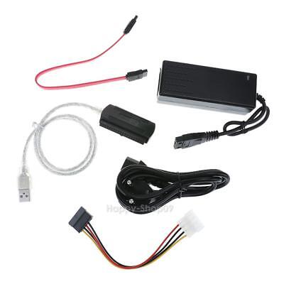 SATA/PATA/IDE Drive to USB 2.0 Converter Cable for HDD with External Power v#h9