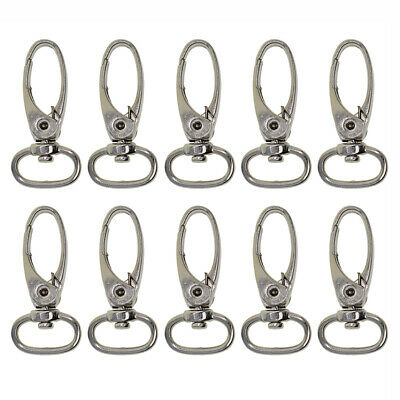 10pcs Silver Alloy Lobster Clasps Swivel Trigger Clips Snap Hooks Bag Key Ring