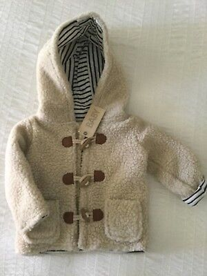 Cotton On Baby Oatmeal Brian Hooded Jacket - Size 18-24 months - New with Tags