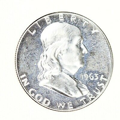 1963-P Franklin Half Dollar 50C Proof GEM BU CAMEO Silver Coin BEAUTY! #1274