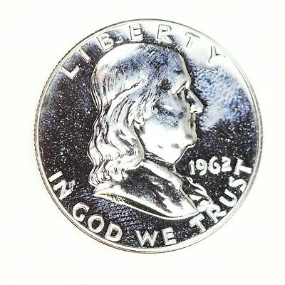1962-P Franklin Half Dollar 50C Proof BU Silver Coin BEAUTY! #1276