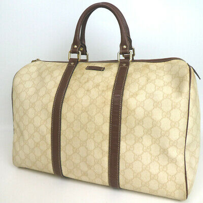 fe05823f4b9 AUTHENTIC GUCCI GGPATTERN Handbag Coating canvas Leather Canvas Used ...