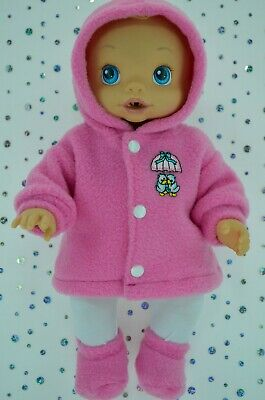 """Play n Wear Doll Clothes For 13"""" Baby Alive CANDY PINK JACKET~TIGHTS~BOOTIES"""