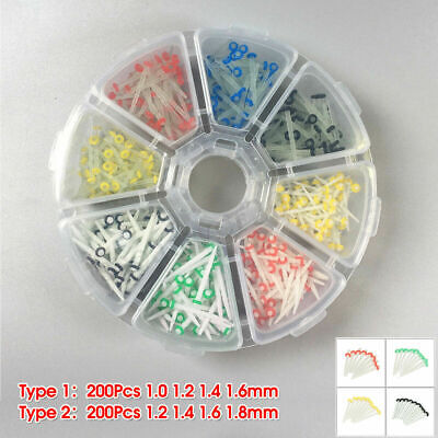 200Pcs Dental Fiber Post Glass Quartz Teeth Restorative 1.0 1.2 1.4 1.6 1.8mm