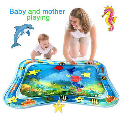 Inflatable Water Play Mat for Infants Toddlers Fun Tummy fun Activity toy mat