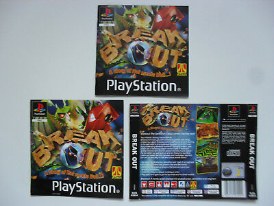 Original Cover inlays and manual for BREAK OUT - Playstation 1