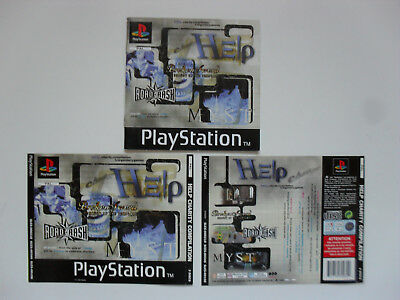 Original Cover inlays and manual for HELP Charity Compilation - Playstation 1